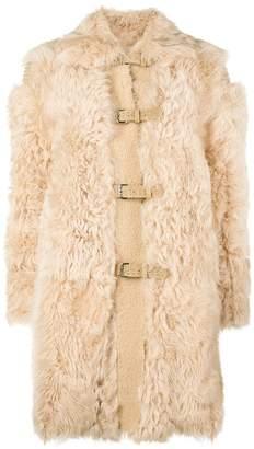 RED Valentino fur duffle coat