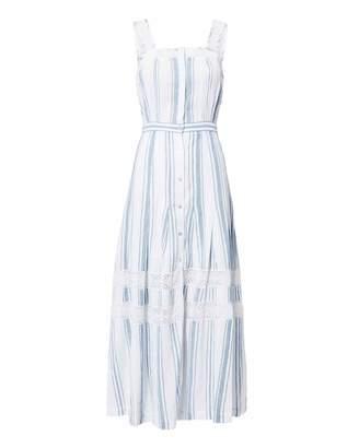 LoveShackFancy Eve Striped Midi Dress