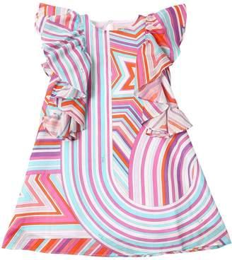 Emilio Pucci Falling Star Printed Cotton Muslin Dress
