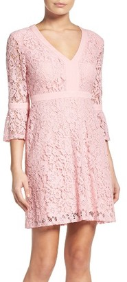 Women's Charles Henry Bell Sleeve Lace Dress $118 thestylecure.com