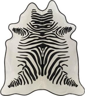Saddlemans Zebra Cowhide Black/White Area Rug