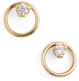 Chicco Zoe Diamond Circle Stud Earrings