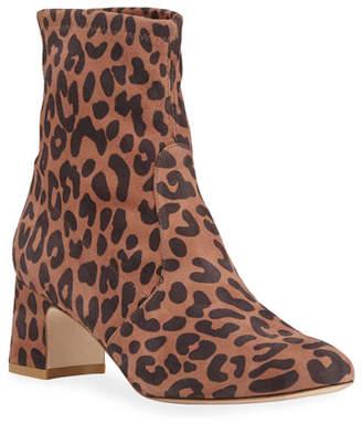 Stuart Weitzman Niki Leopard Suede 60mm Boots