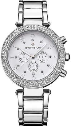 Timothy Stone Women's 'Desire' Crystal Accented Stainless Steel Bracelet Boyfriend Watch