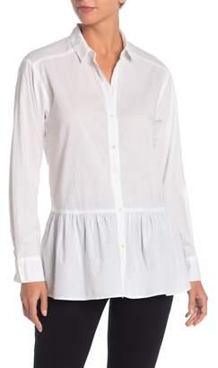 Velvet by Graham & Spencer Carling Ruffled Hem Long Sleeve Shirt