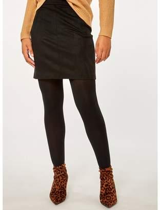 Dorothy Perkins Black Suedette Skirt