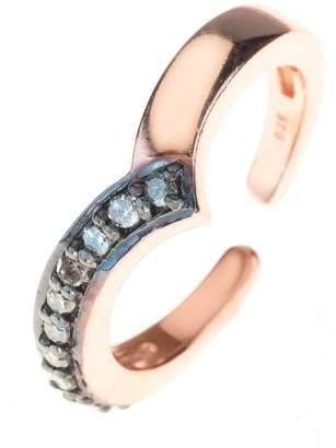 Rosegold Latelita London - Diamond Midi Ring Chevron