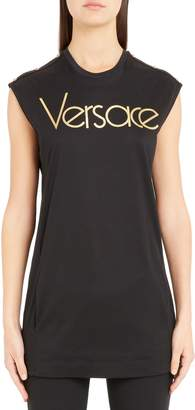 Versace Logo Tunic Top