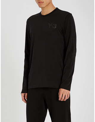 Y-3 Y3 Logo-print cotton-jersey T-shirt