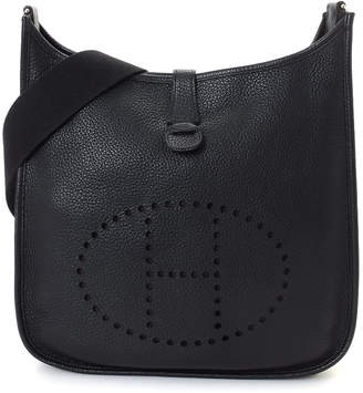 Hermes Evelyne I GM Black Togo Crossbody - Vintage