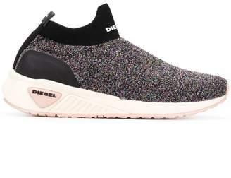Diesel glitter-effect sneakers