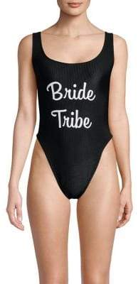 Private Party One-Piece Bride Tribe Swimsuit