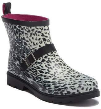 Capelli of New York Leopard Print Rubber Low Rain Boot