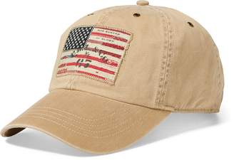 Ralph Lauren Flag Patch Chino Baseball Cap