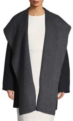 Vince Wool-Blend Hooded Coat