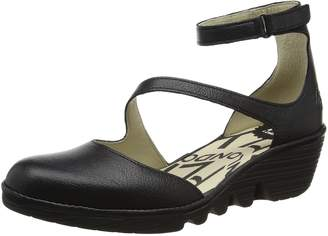 Fly London Womens PLAN717FLY Wedge Leather Sandals EU