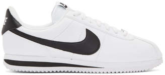 Nike White Leather Basic Cortez Sneakers