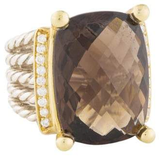 David Yurman Smoky Quartz & Diamond Wheaton Ring