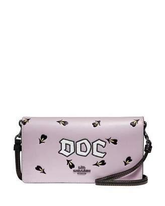 Coach 1941 Disney Dark Fairy Tale Doc Fold-Over Crossbody Clutch Bag