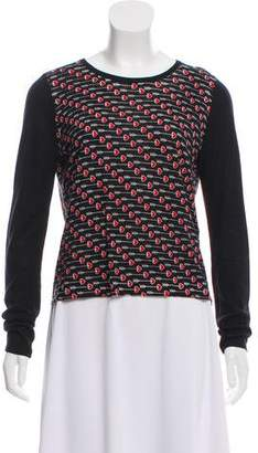 Diane von Furstenberg Long Sleeve Knit Top