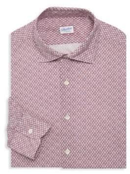 Incotex Slim-Fit Printed Dress Shirt