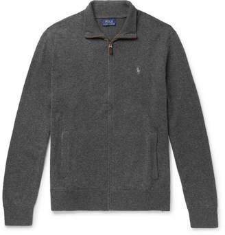 Polo Ralph Lauren Melange Merino Wool Zip-Up Cardigan
