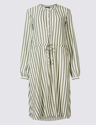 Marks and Spencer Striped Long Sleeve Tunic Midi Dress
