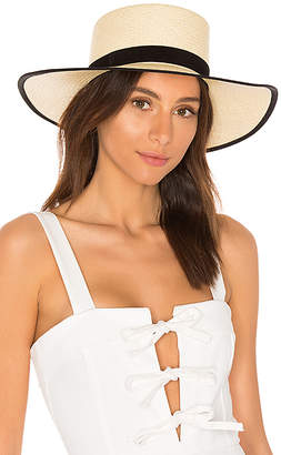 Janessa Leone Willow Boater Hat