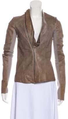 Rick Owens Distressed Leather Jacket