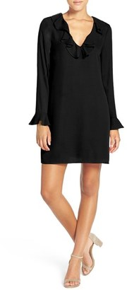 Women's Charles Henry Ruffle Neck Shift Dress $88 thestylecure.com