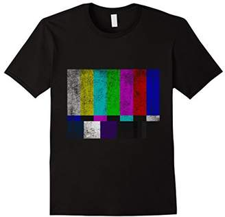 Rusty Vintage TV Test Pattern Color Bars Distressed T-shirt