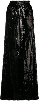 Faith Connexion sequined logo maxi skirt