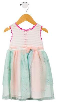 Billieblush Girls' Crochet-Accented Tulle Dress w/ Tags