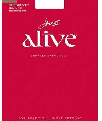 Hanes Alive Womens Nylonull Support Reinorced Toe Sheer Pantyhose (Pack o 3)
