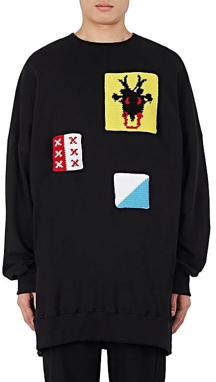 J.W.Anderson Men's Patchwork Cotton Oversized Sweatshirt
