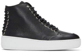 McQ Black Netil Eyelet High-Top Sneakers