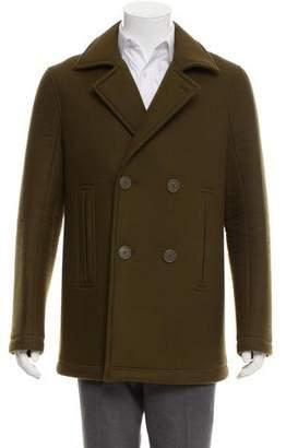 Maison Margiela Notch-Lapel Wool Coat