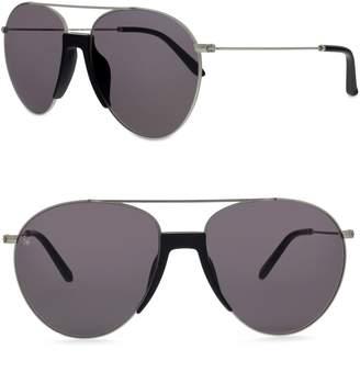 Smoke X Mirrors Fortunate Son 55mm Aviator Sunglasses