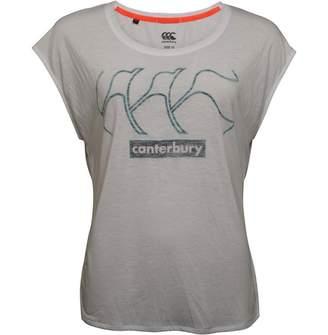 Canterbury of New Zealand Womens CCC Logo VapoDri Loose Fit Top Bright White