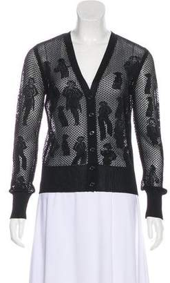 Chanel Knit Button-Up Cardigan
