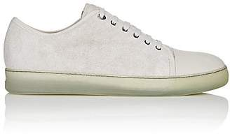 Lanvin Men's Cap-Toe Suede & Leather Sneakers - White