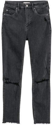 H&M Skinny High Waist Jeans - Gray