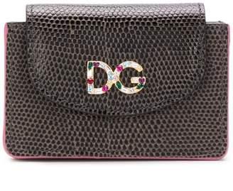 Dolce & Gabbana snake embossed flap card holder