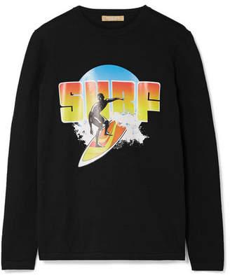 Michael Kors Surf Printed Cotton-jersey Top - Black