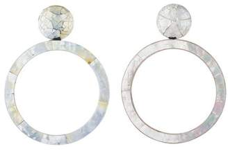 Josie Natori Mother of Pearl Closed Hoop Earrings