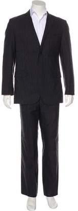 CNC Costume National Striped Notch-Lapel Suit