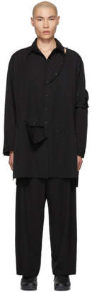 Yohji Yamamoto Black Detachable Button Shirt