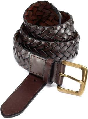 Charles Tyrwhitt Brown Plait Belt Size 34-36