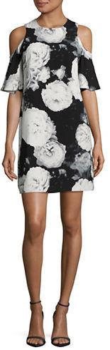 Calvin KleinCalvin Klein Floral Cold-Shoulder Dress