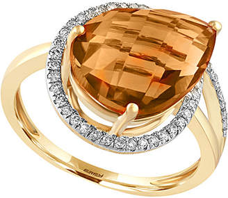 Effy Fine Jewelry 14K 4.48 Ct. Tw. Diamond & Citrine Ring